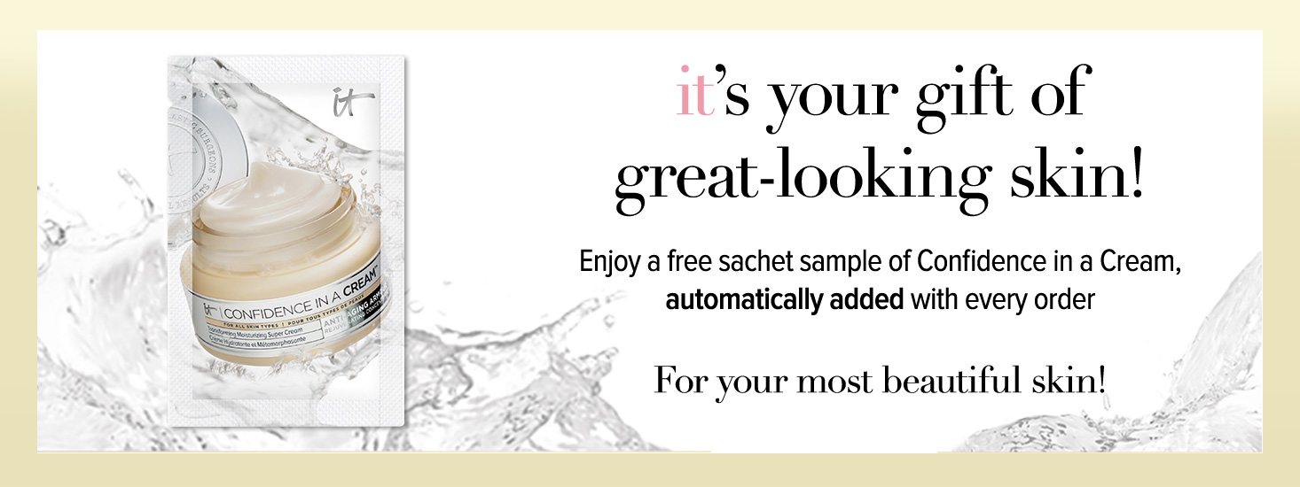 *Sachet samples automatically add to basket, no code required. Subject to availability whilst stocks last. Only available on itcosmetics.co.uk.